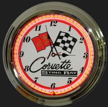 Corvette String Ray Neon Clock