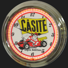 Casite Oil Additives Neon Clock