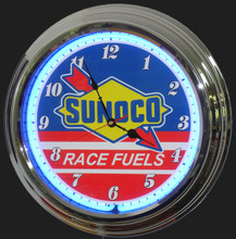 Sunoco Racing Fuels Neon Clock