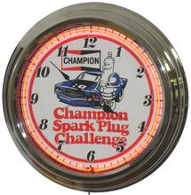 Champion Spark Plugs Neon Clock