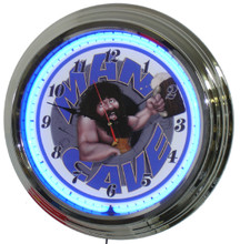 Man Cave Blue Face Neon Clock