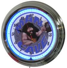 Man Cave Blue Face Neon Clock