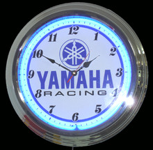 Yamaha Motorcycle Racing Neon Clock