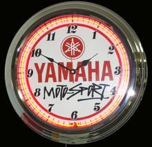 Yamaha Motorcycle Motorsports Neon Clock