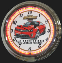 Chevrolet Camaro Legend Neon Clock