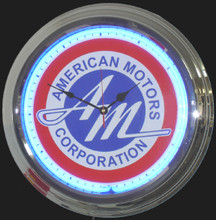 American Motors Corp. Logo Neon Clock