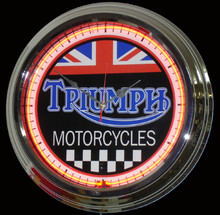 Triumph Motorcycle Classic Neon Clock