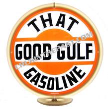 """Gulf  """"That Good Gulf"""" Gasoline Gas Pump Globe"""