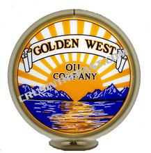 Golden West Gasoline Gas Pump Globe
