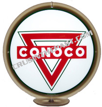 Conoco Triangle Gasoline Gas Pump Globe