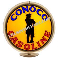 Conoco Minuteman Gasoline Gas Pump Globe