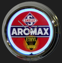 Skelly Aromax Gasoline Neon Clock