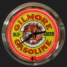 Gillmore Lion Gasoline Neon Clock