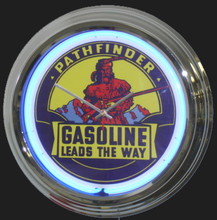 Pathfinder Gasoline Neon Clock
