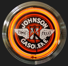 Johnson Gasoline Neon Clock