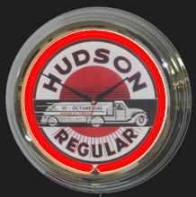 Hudson Gasoline Neon Clock
