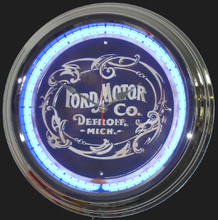Ford Motor Company Classic Neon Clock