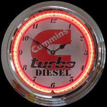 Cummings Turbo Diesel Neon Clock