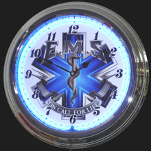 EMS, On Call For Life Neon Clock