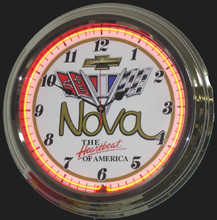 Chevrolet Nova Heartbeat Neon Clock
