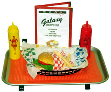 Car Hop Tray Colplete Set Including Fake Food