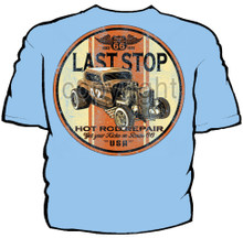 Last Stop Hot Rod Navy Work Shirt