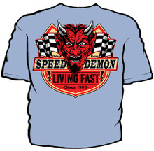 Speed Demon Hot Rod Shop Navy Work Shirt