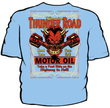 Thunder Road Motor Oil Navy Work Shirt