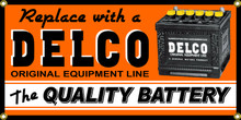 Delco Battery Wall Banner