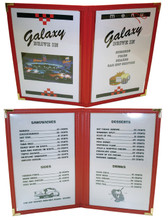 50's Style Car Hop Menu Featuring The Galaxy Drive In