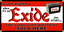 Exide Battery Battery Wall Banner
