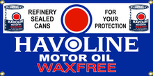 Havoline Motor Oil Wall Banner