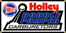 Holley Double Pumper Carburetors Wall Banner