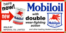 Mobiloil Oil Wall Banner