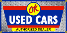OK Used Cars Wall Banner