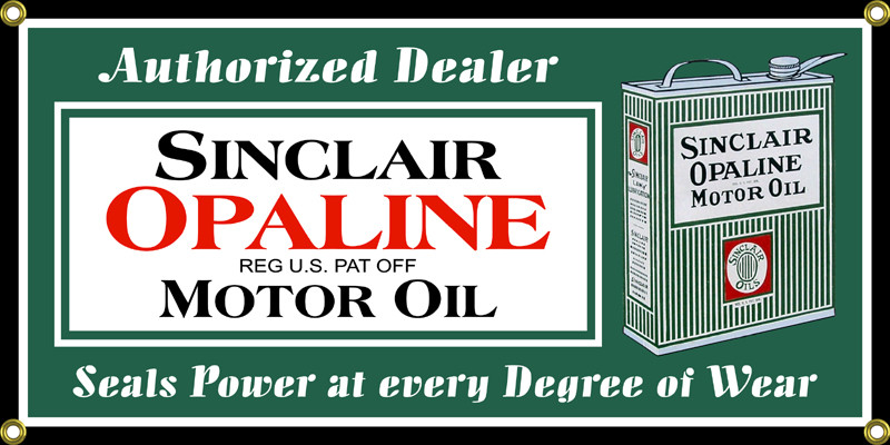 Sinclair Opaline Motor Oil Classic Wall Banner. Price: $39.95. Image 1