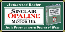 Sinclair Opaline Motor Oil Classic Wall Banner