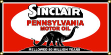 Sinclair Pennsylvania Motor Oil Classic Wall Banner