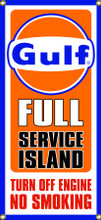 Gulf Gas Station Entrance Wall Banner