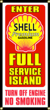 Shell Oil Gas Station Entrance Wall Banner