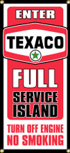 Texaco Gas Station Entrance Wall Banner