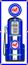 Pure Oil Gas Pump 6 Foot Tall Wall Banner