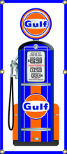 Gulf Oil Gas Pump 6 Foot Tall Wall Banner