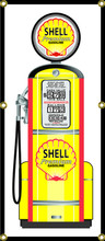 Shell Oil Gas Pump 6 Foot Tall Wall Banner