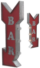 Bar Arrow Off The Wall Lighted Sign