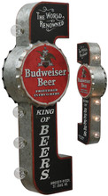 Budweiser Beer Off The Wall Lighted Sign