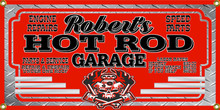 Hot Rod Garage Personalized Wall Banner