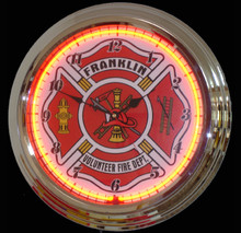 Personalized Fire Department Neon Clock