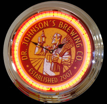 Personalized Brewery Neon Clock