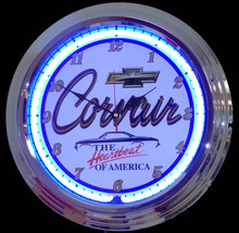 Chevrolet Corvair Heartbeat Neon Clock